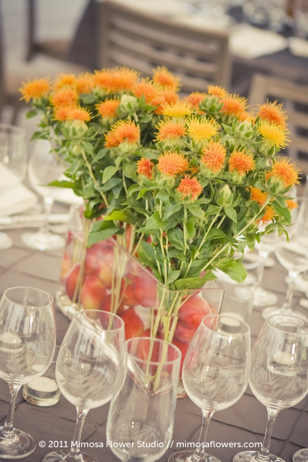 Quirky Centrepieces with fruits and vegetables 6