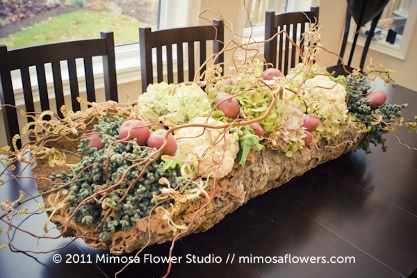 Quirky Centrepieces with fruits and vegetables 10