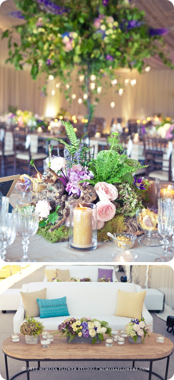 Blue Mountain private wedding floral decor