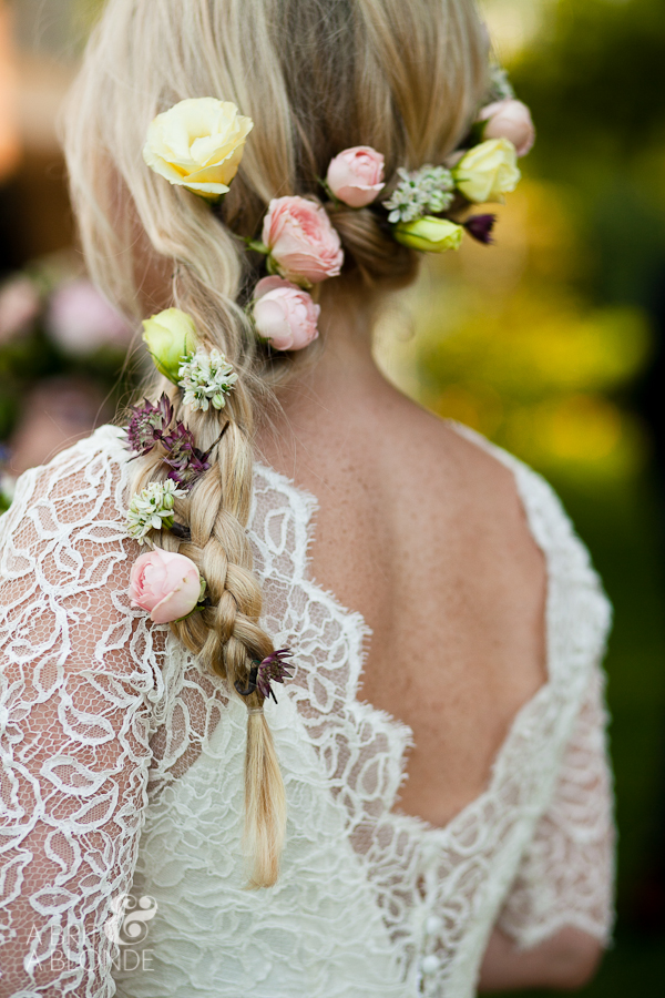 Bride's hair flowers