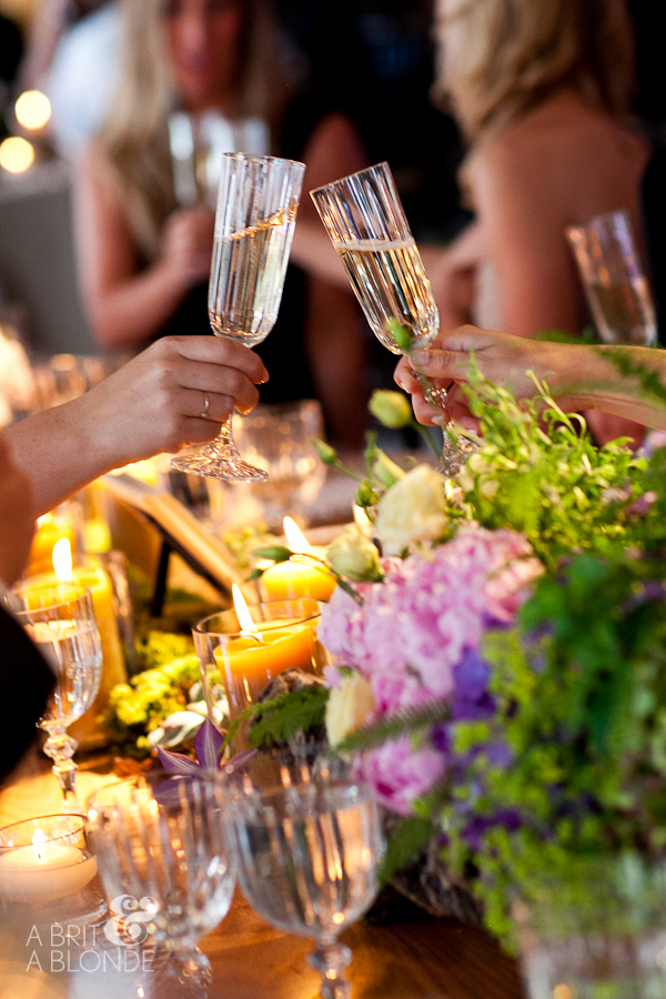 crystal champagne stemware wedding reception toast
