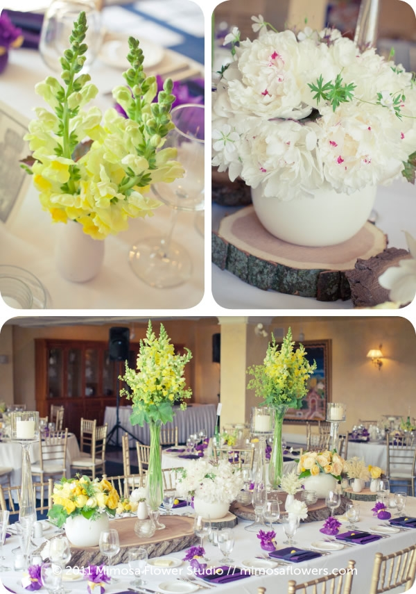Yellow and Purple Wedding Reception at Inn on the Twenty