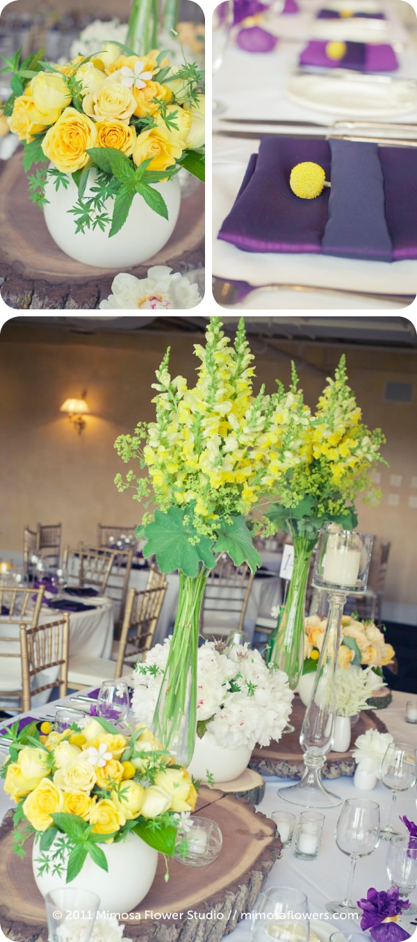 Yellow and Purple Wedding Reception at Inn on the Twenty 2
