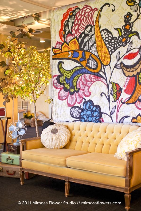 Mimosa Flower Studio Yellow Couch at Inn on the Twenty