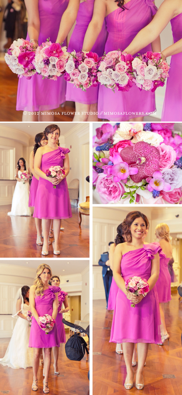Purple and Pink Bridesmaid's at Queen's Landing wedding in Niagara-on-the-Lake 2