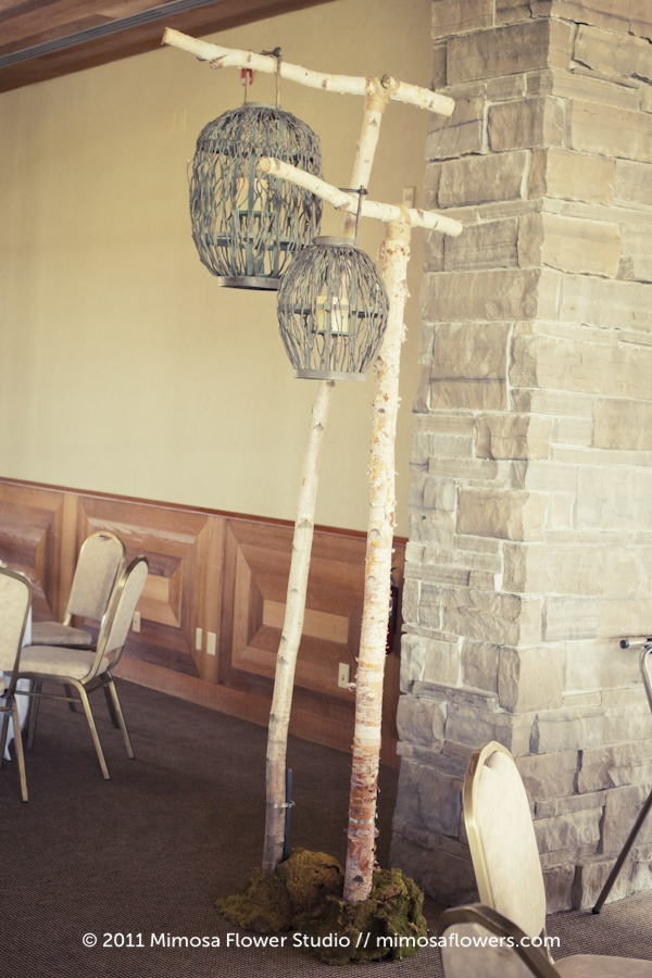 Birch Poles and Twiggy Lanterns