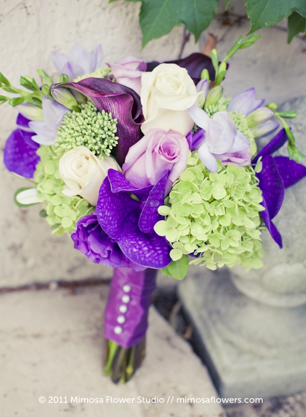 Purple Orchid Bridesmaid's Bouquet