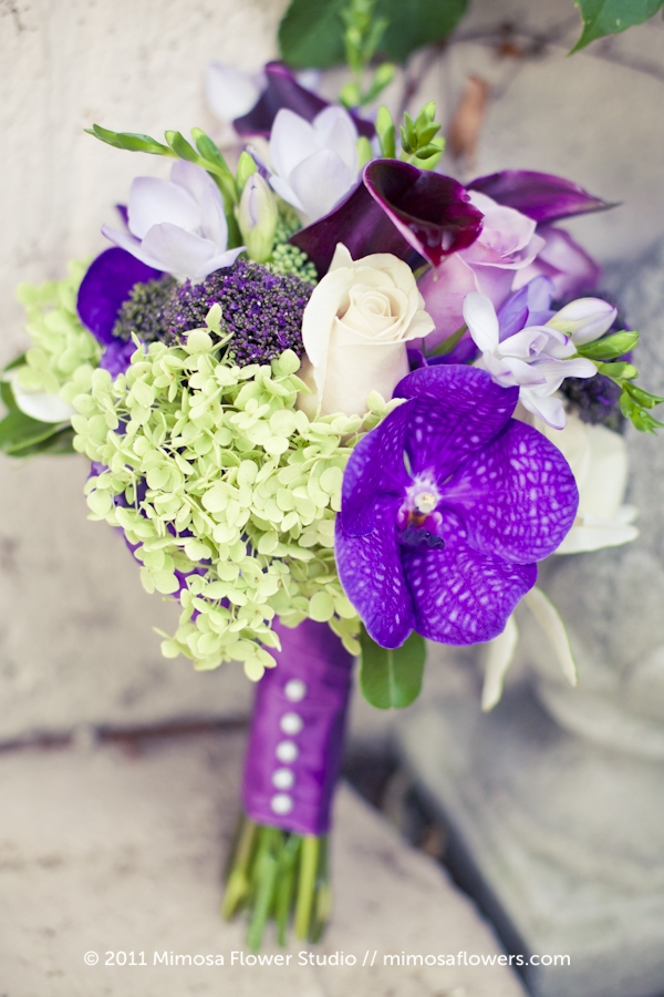 Purple Orchid Bridesmaid's Bouquet 2