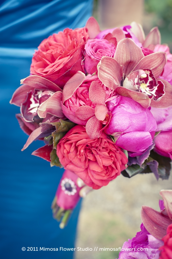 Pink Red Fuchsia Bridesmaid's Bouquet 3