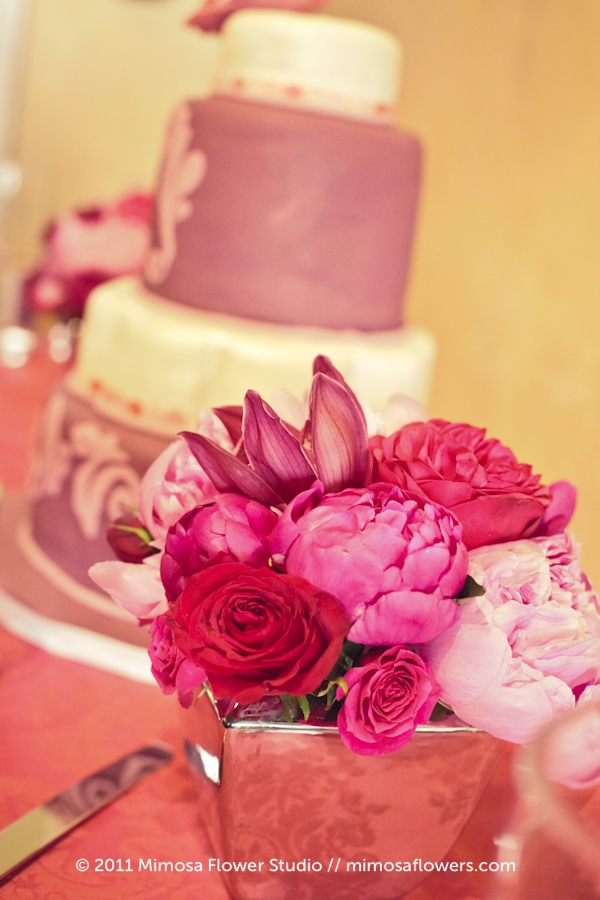 Inn on the Twenty Pink Wedding Cake