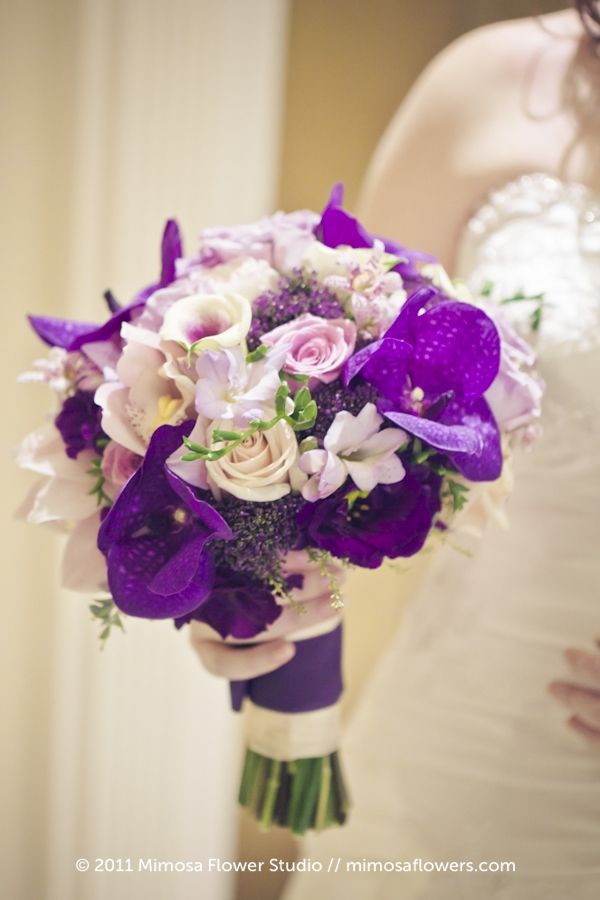 Purple Bride's Bouquet - 3