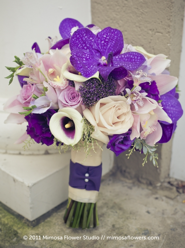Purple Bride's Bouquet - 1