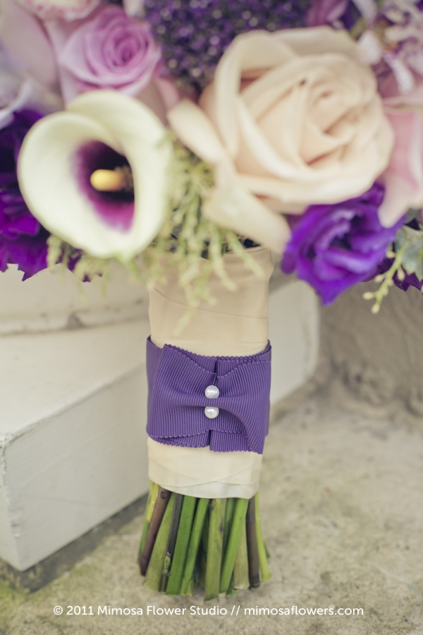 Purple Bride's Bouquet - 2