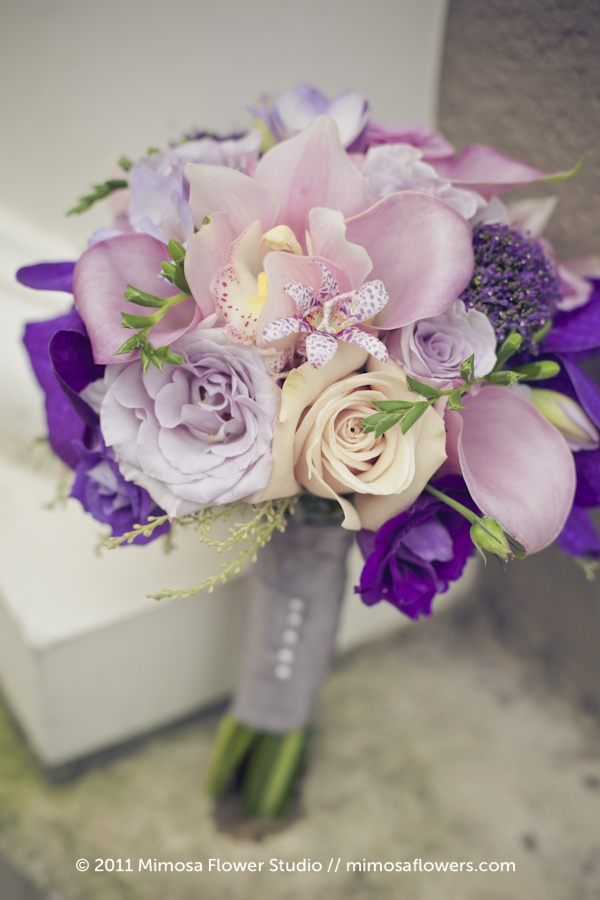 Purple Bridemaid's Bouquet - 1