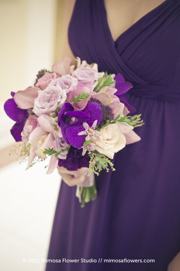 Purple Bridemaid's Bouquet - 2