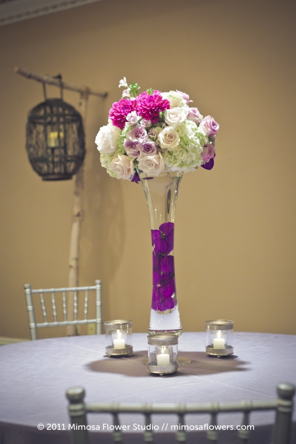 Queen's Landing Wedding Reception Flowers in Imperial Ballroom - 1