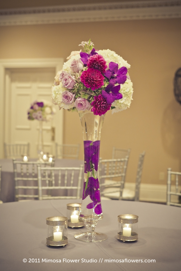 Queen's Landing Wedding Reception Flowers in Imperial Ballroom - 2