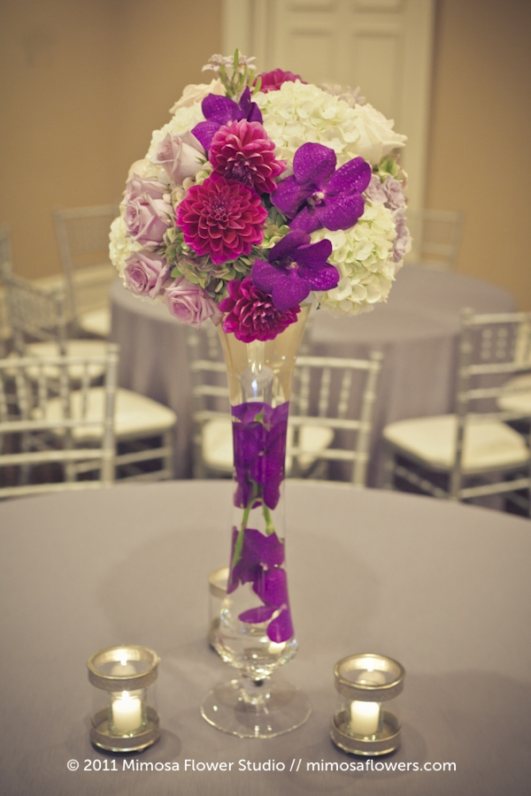 Queen's Landing Wedding Reception Flowers in Imperial Ballroom - 3