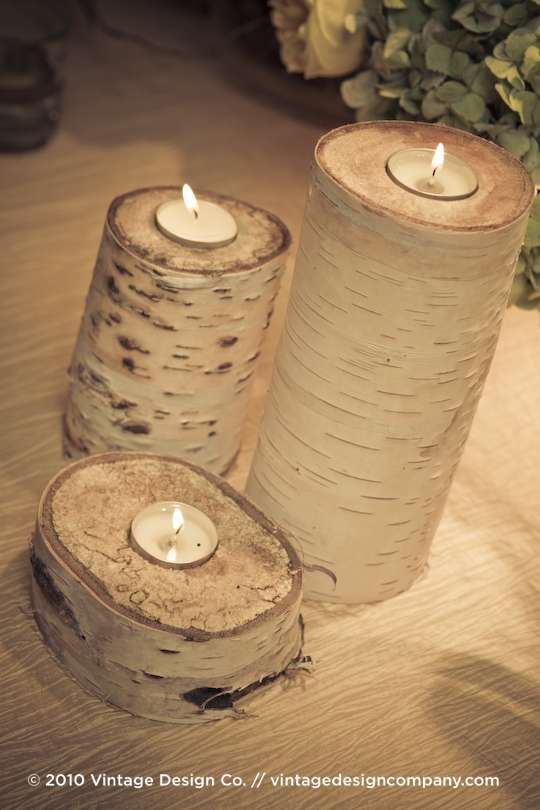 Vintage Design Co. // Birch Candles