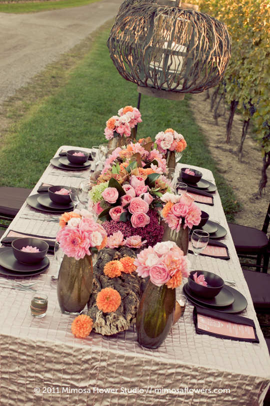 Wedding Tablescape in the Winery Vineyard - 2