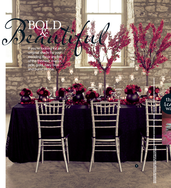 Mimosa Flower Studion in Weddingbells Magazine Spring/Summer 2013 Issue