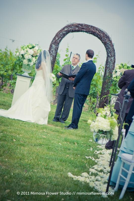 Winery Vineyard Wedding Ceremony - 3