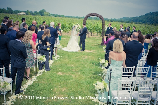 Winery Vineyard Wedding Ceremony - 5