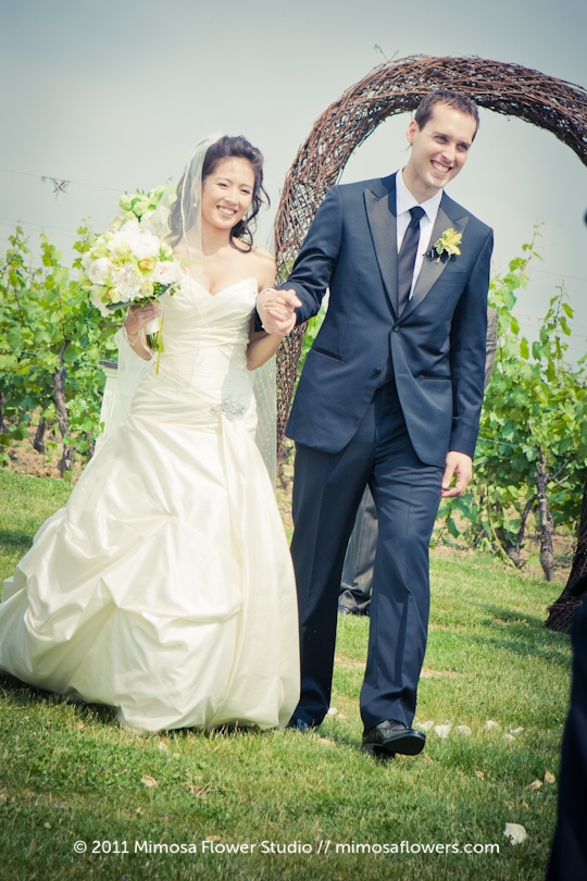 Winery Vineyard Wedding Ceremony - 4