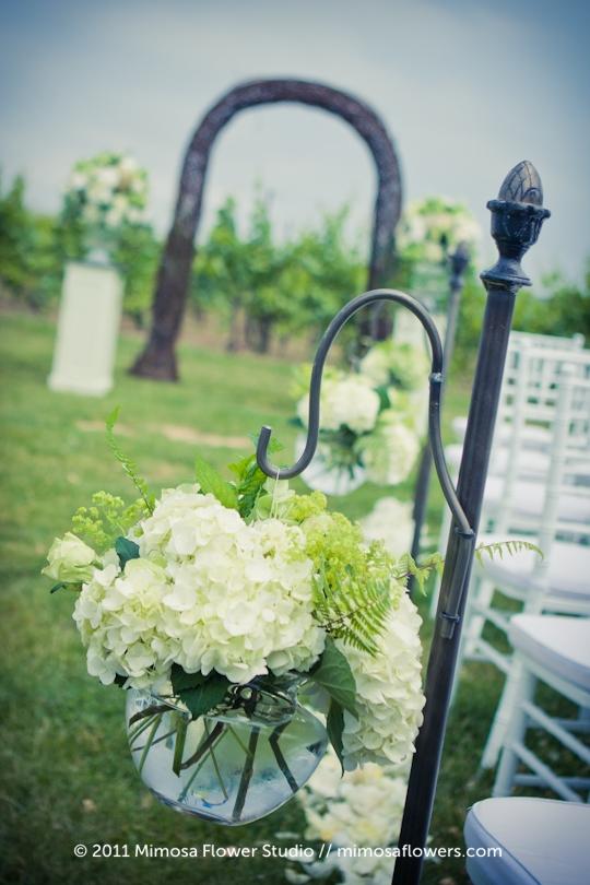 Winery Vineyard Wedding Ceremony - 1