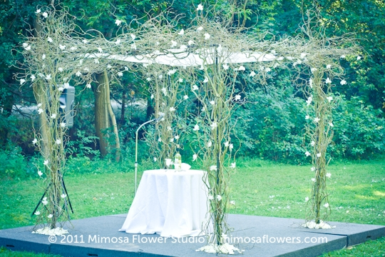 Chuppah Outdoors in Winery Vineyard - 4