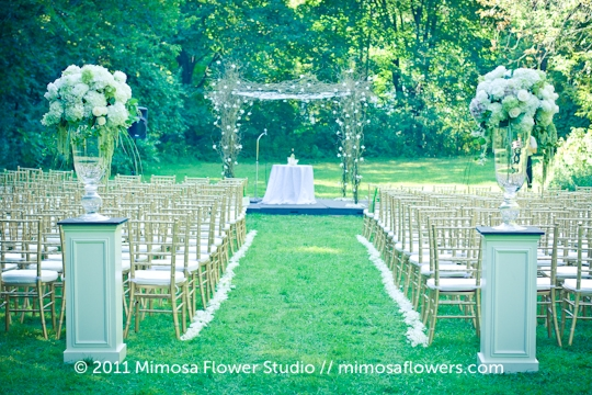 Chuppah Outdoors in Winery Vineyard - 5