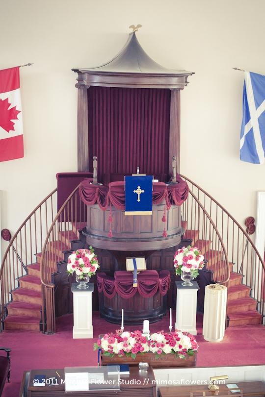 St. Andrews Presbyterian Church Wedding Ceremony Niagara on the Lake