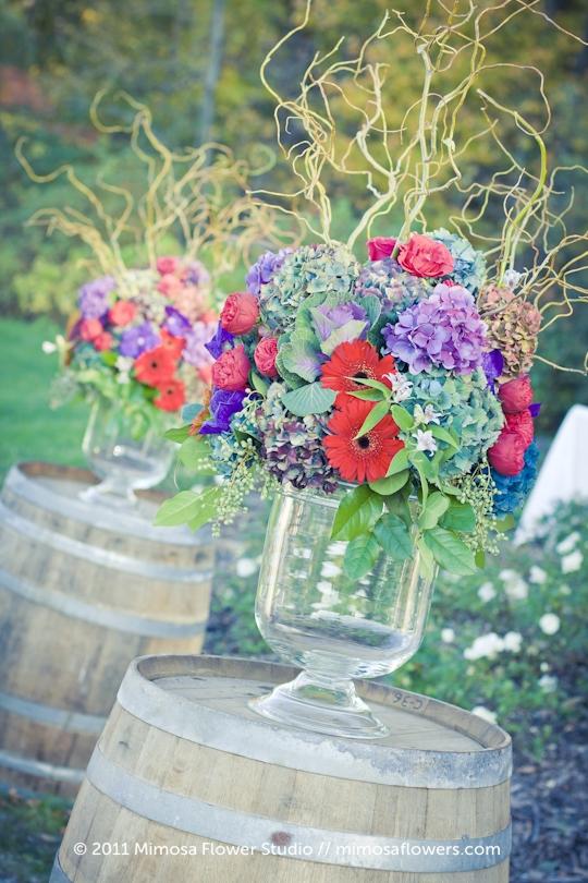 Outdoor Vineyard Wedding Ceremony - 3