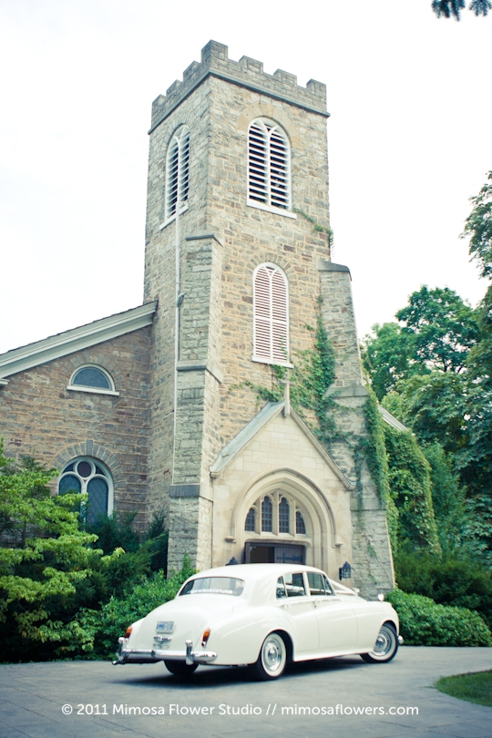 Wedding Ceremony at St. Mark's Anglican Church in Niagara on the Lake