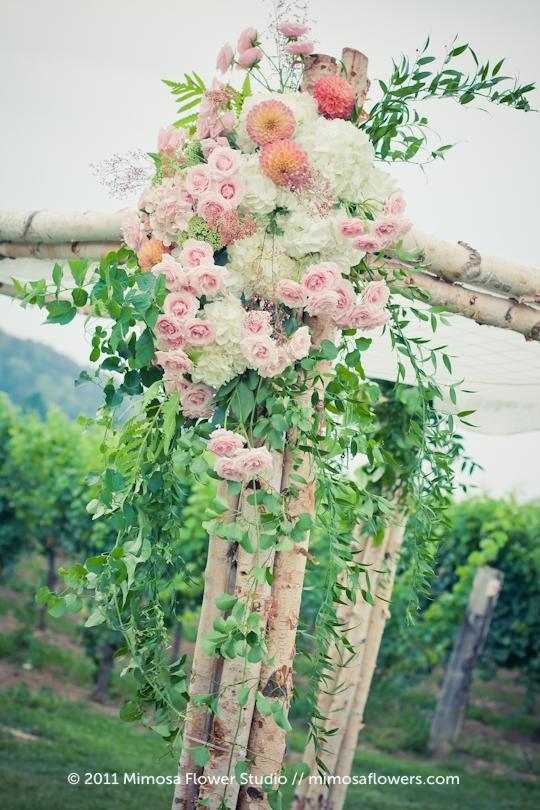 Chuppah Outdoors in Winery Vineyard - 3