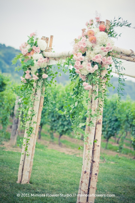 Chuppah Outdoors in Winery Vineyard - 2