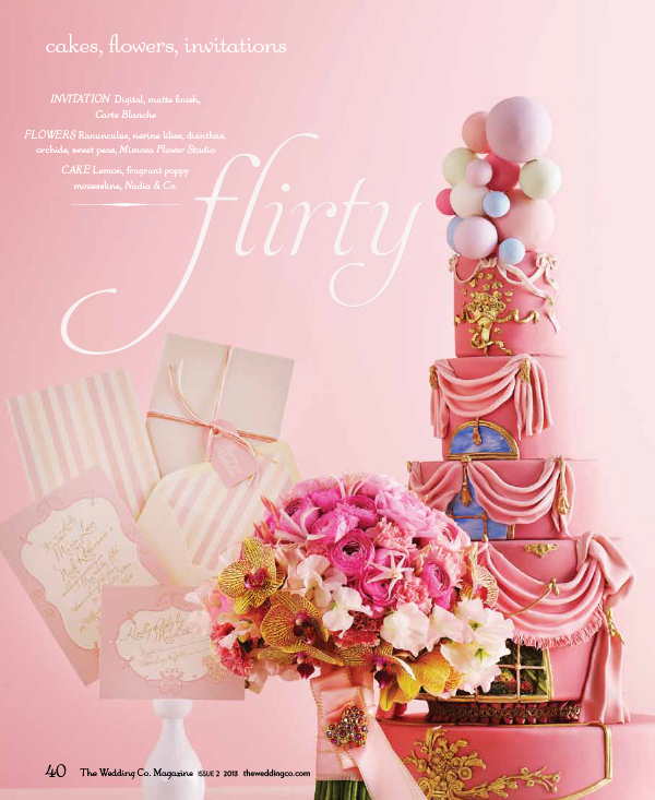 The Wedding Co. Magazine 2013 - featuring Mimosa Flower Studio